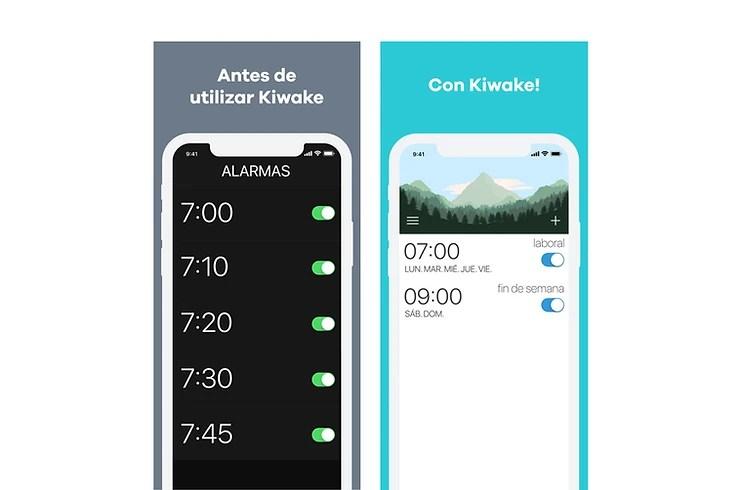 Pantalla de la app Kiwake