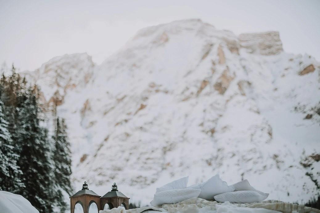 Winter Wonderland Picnic - Lago di Braies - The Dolomites