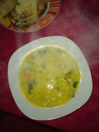 zuppa di patate zucchine e cannellini
