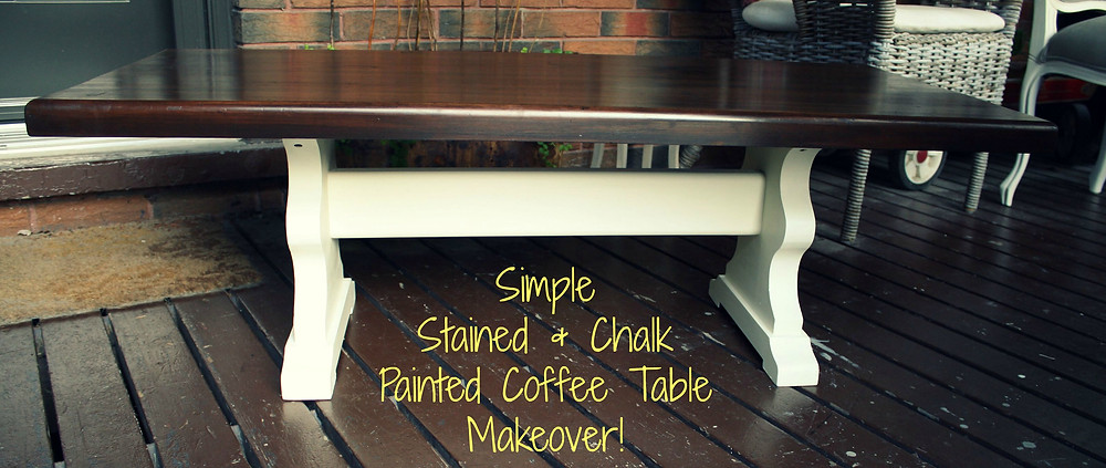 chalk painted coffee table makeover