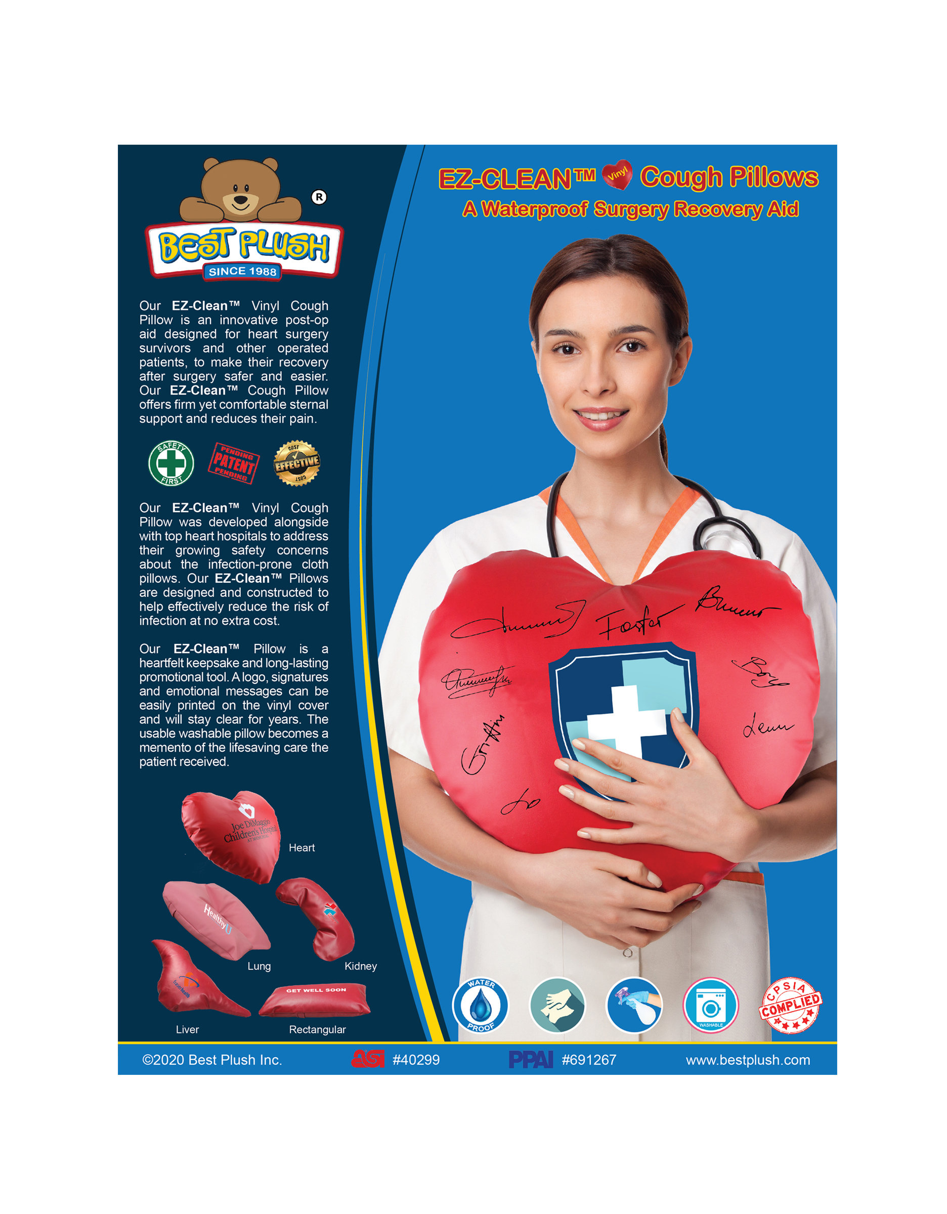 heart shaped cough pillow ez clean waterproof aid for cardiac surgery recovery best plush inc