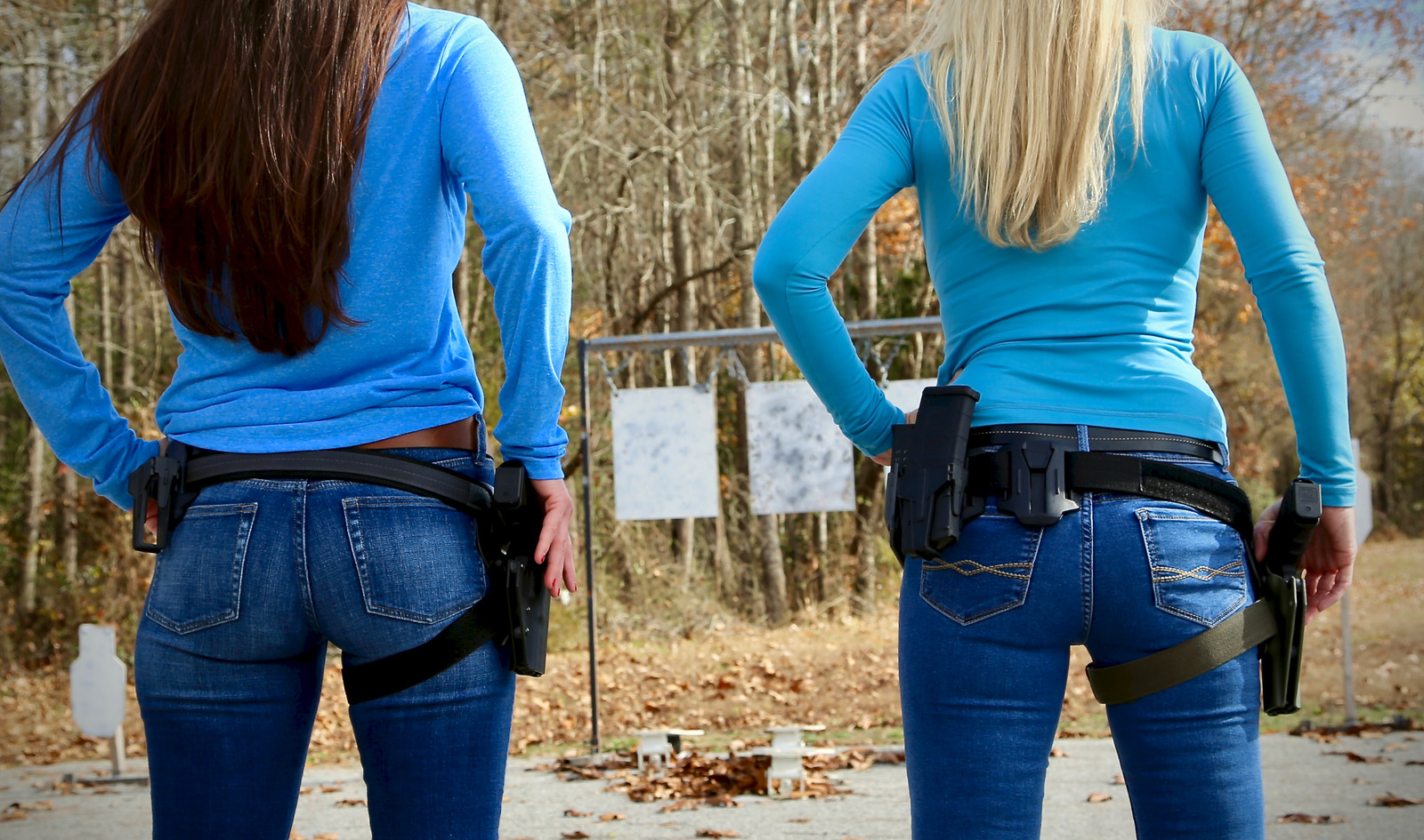 Girl Shooting On Range Virginia Best Gun Shop Chesapeake