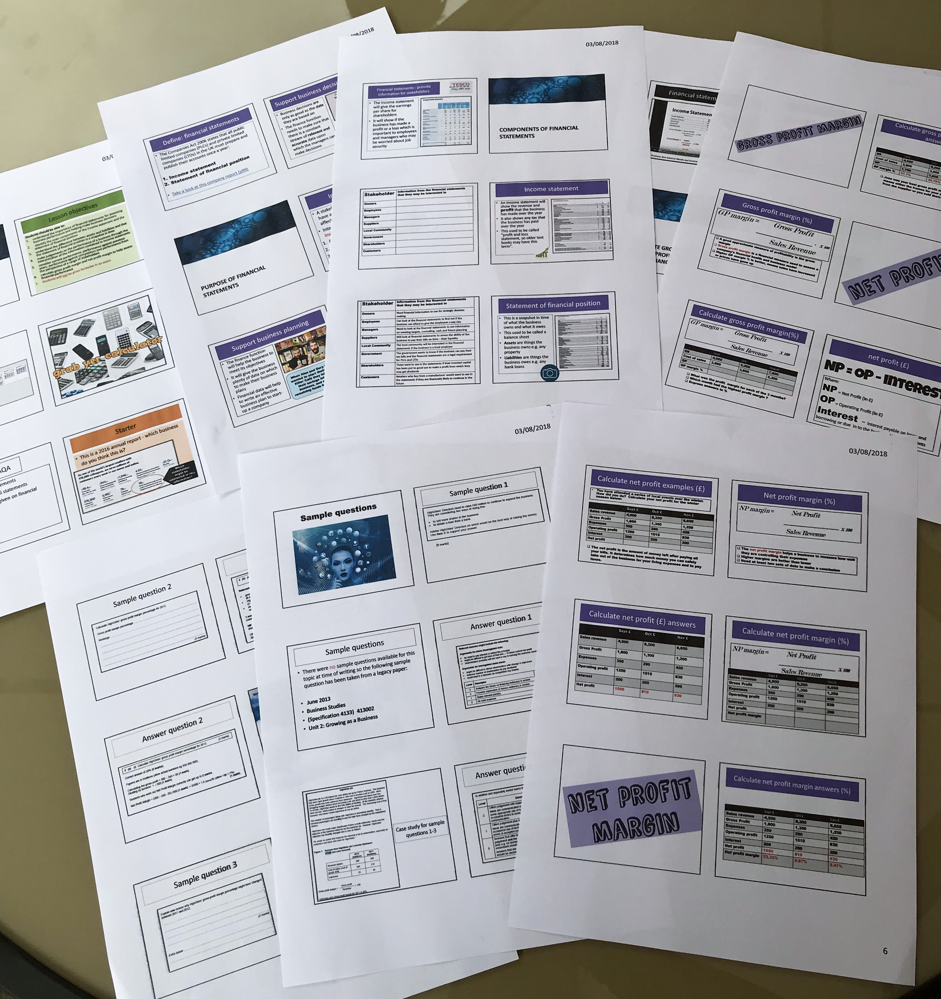 Revisionstation Gcse Aqa Business Teaching Resources Pack