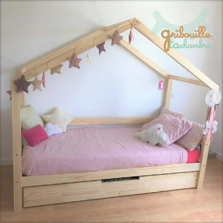 lit cabane pinede avec tiroir gigogne a partir de gribouilletachambre