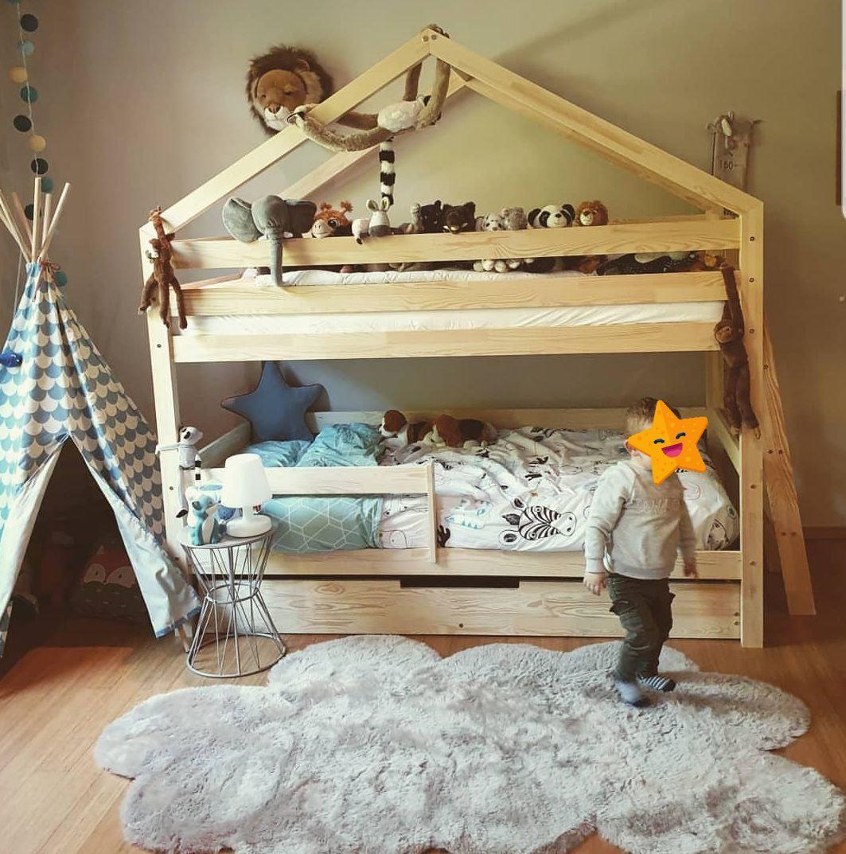 lit maison a etage avec tiroir gigogne a partir de