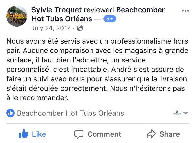 beachcomber hot tub orleans