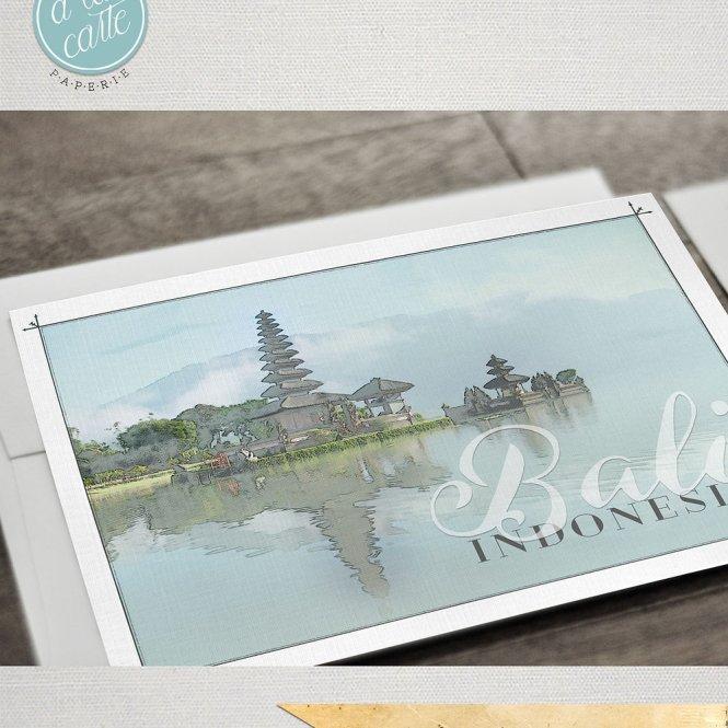 Bali Indonesia Asia Ilrated Destination Wedding