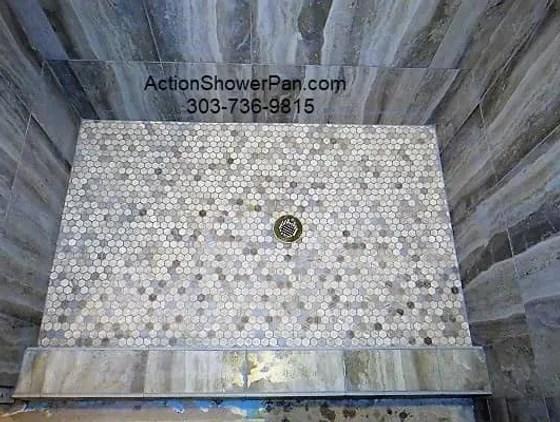 shower pan tile installation colorado