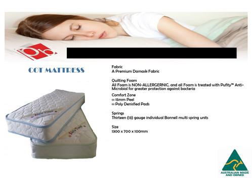 Australian Made Best Quality Beautiful Cot Mattress Now
