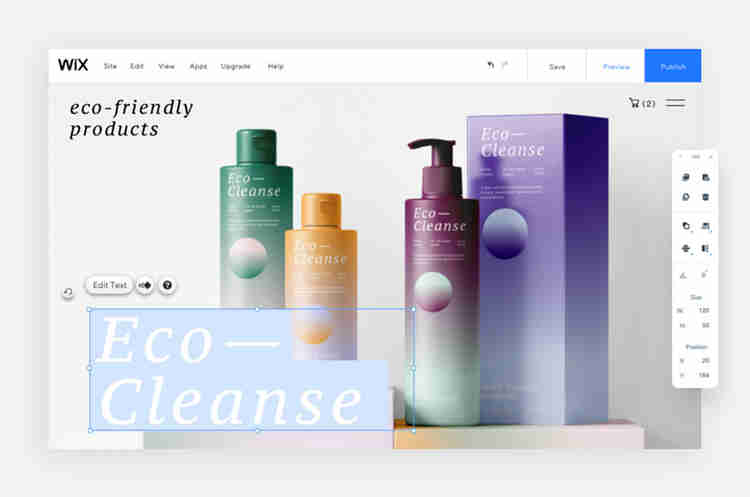 Eco-cleanse brand visual identity example