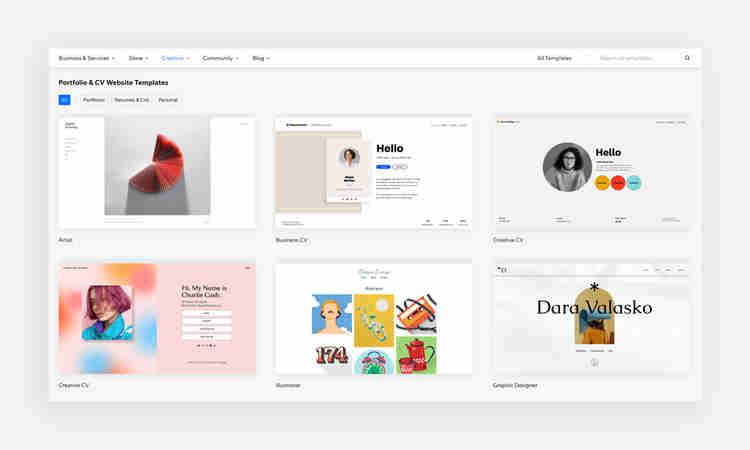 portfolio and CV templates to make your own site