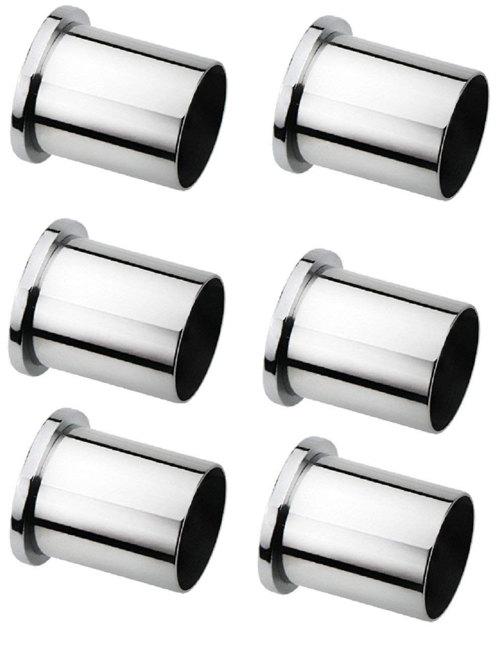 ss long wall to wall bracket for curtain rod fitting 1 inch with screws 6 pcs oginie home beyond