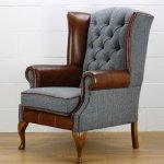 Royal Harris Tweed Wing Back Chair