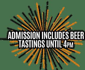 Complimentary beer tastings until 4pm