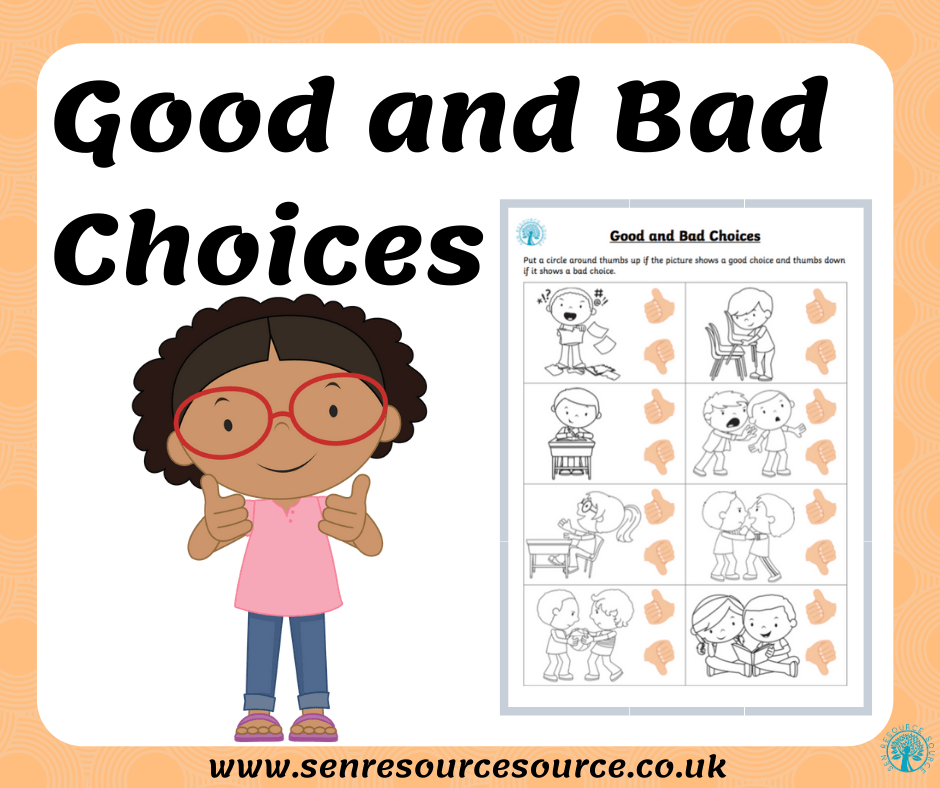 Good And Bad Behaviour Choices Worksheet Version 2
