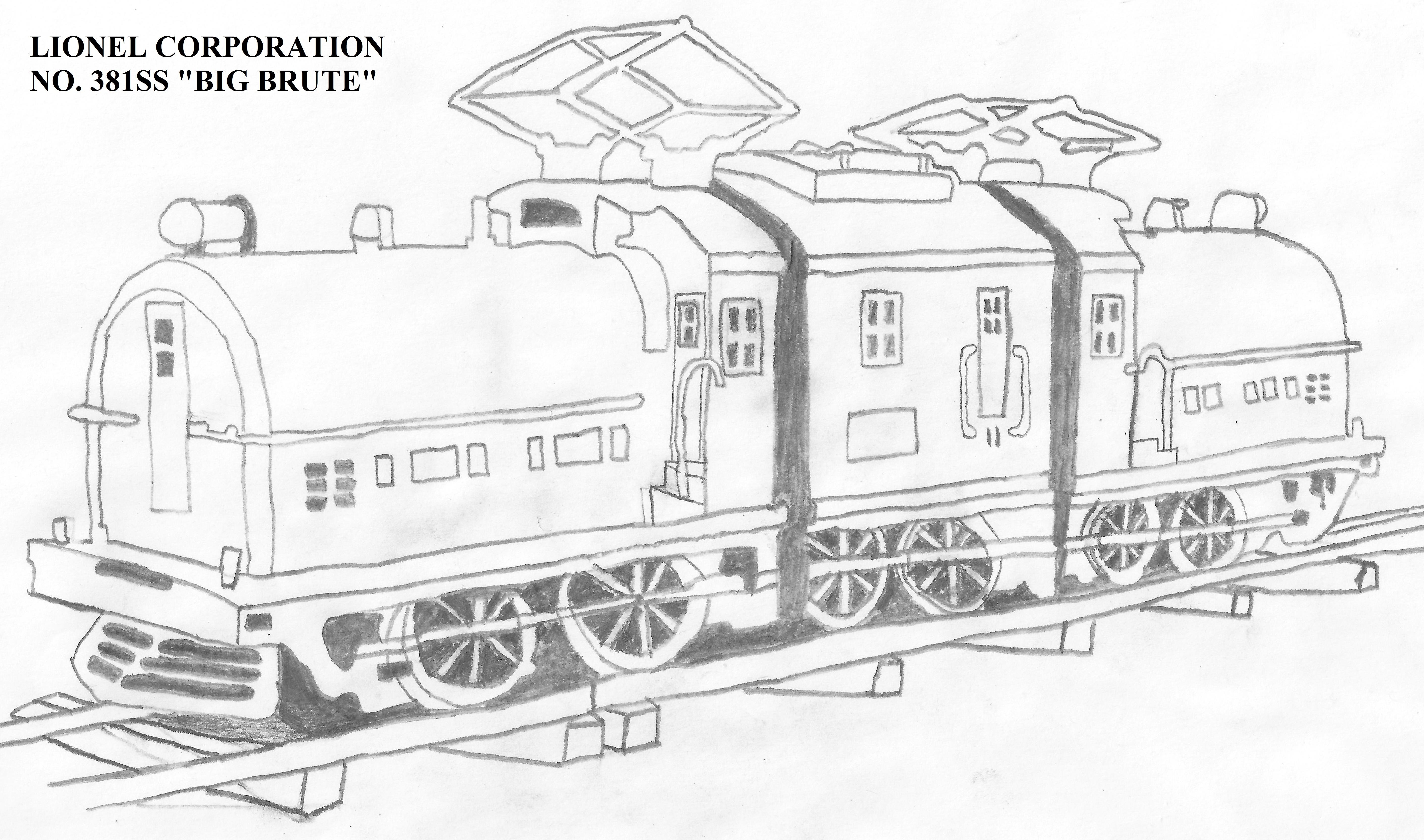 My Drawing Of The Lionel Standard Gauge Big Brute