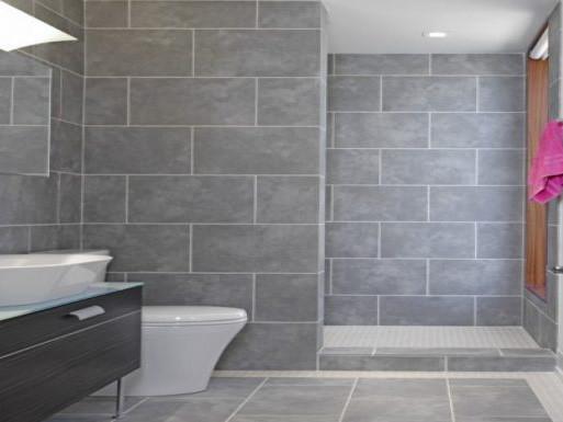 12x24 tile on bathroom walls