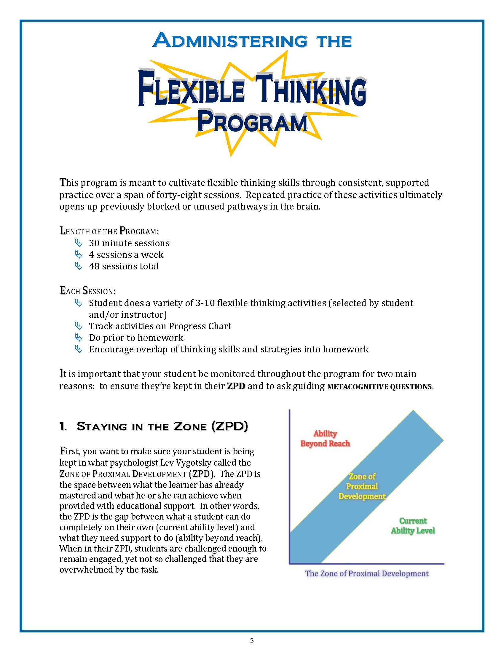 Flexible Thinking Program