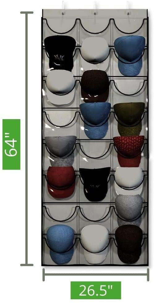 baseball hat rack 24 pocket over the door cap organizer unjumbly