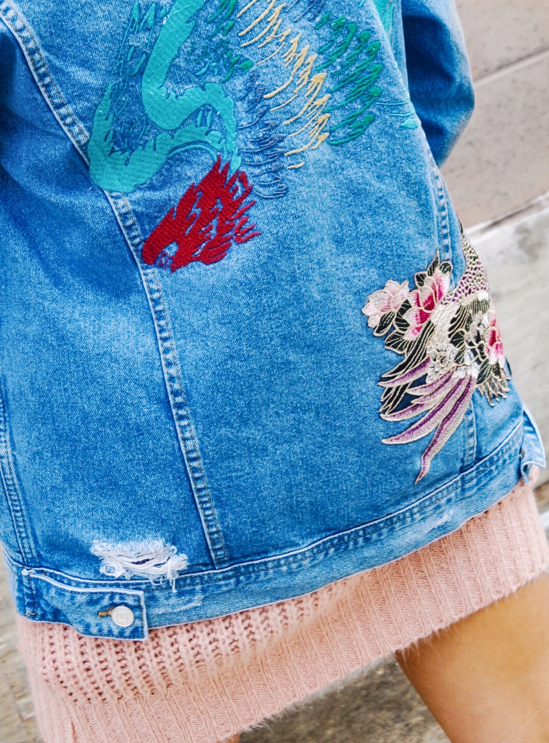 Missguided Embroidered Jacket Fashion and Style Blog fashionnikki.com