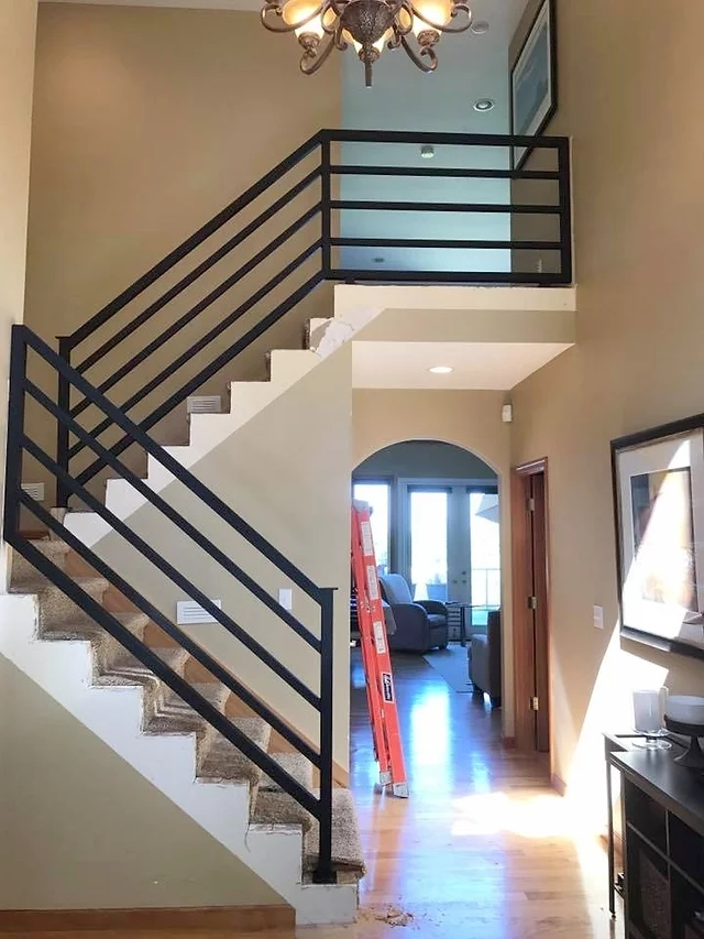 Gates And Railings Metal Art And Sculpture Seattle Wa | Modern Horizontal Stair Railing | Really Thin | Interior | Cast Iron | Cable | Elegant
