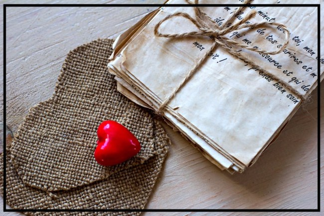 another love letter love letters heartfelt red heart letters tied with twine burlap hearts
