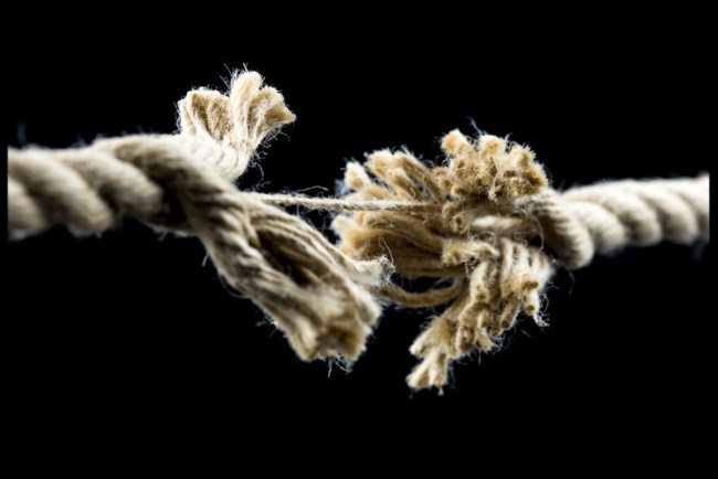 unraveling rope frayed rope coming apart