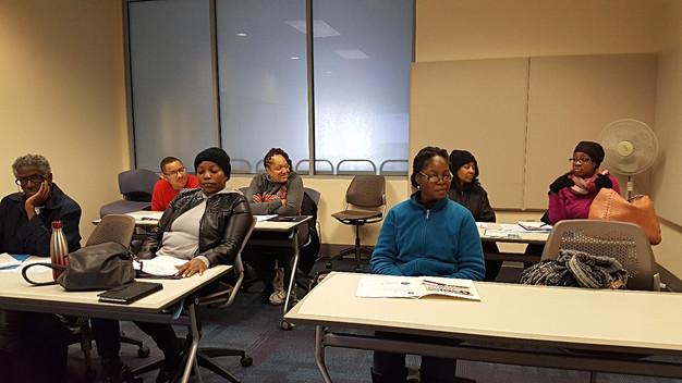attendees at Blogging Basics Workshop