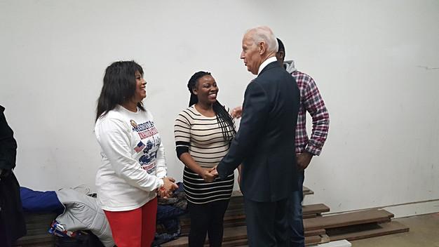 Vice President Joe Biden adminiring my shirt