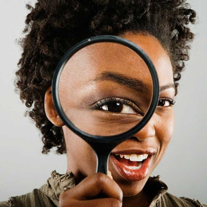 Image result for black woman magnifying glass