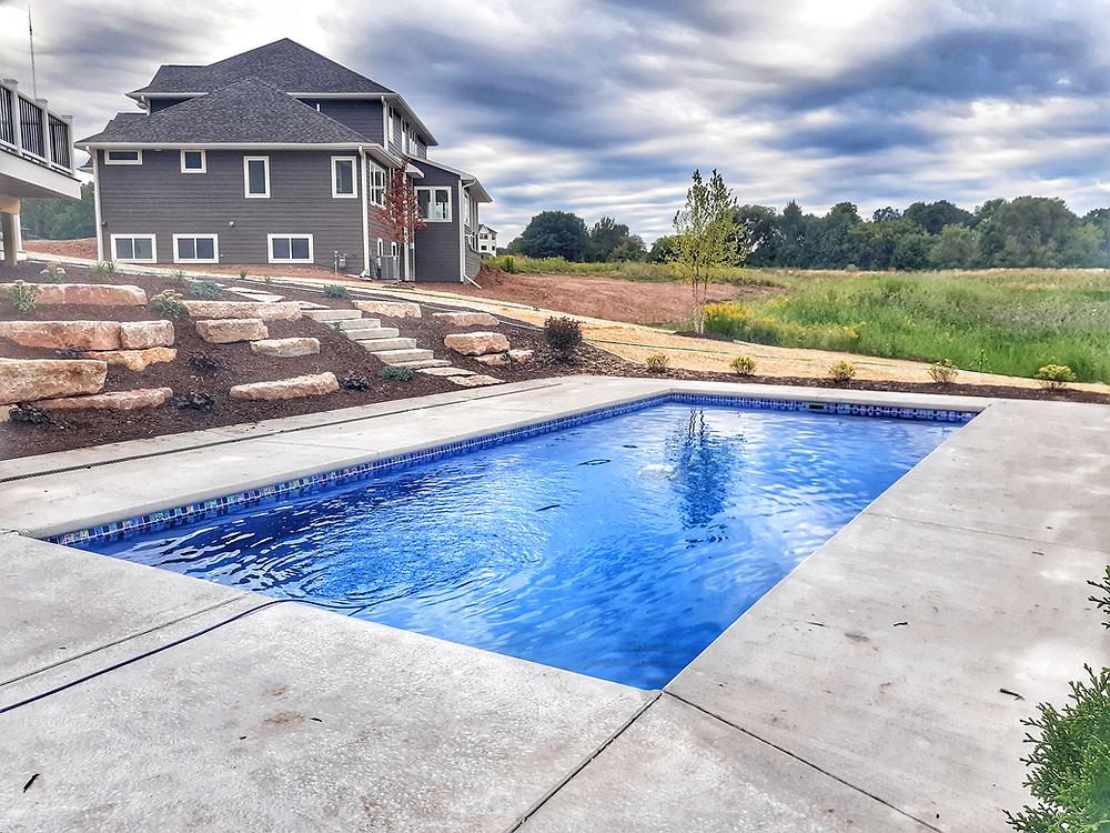 tile for a fiberglass pool