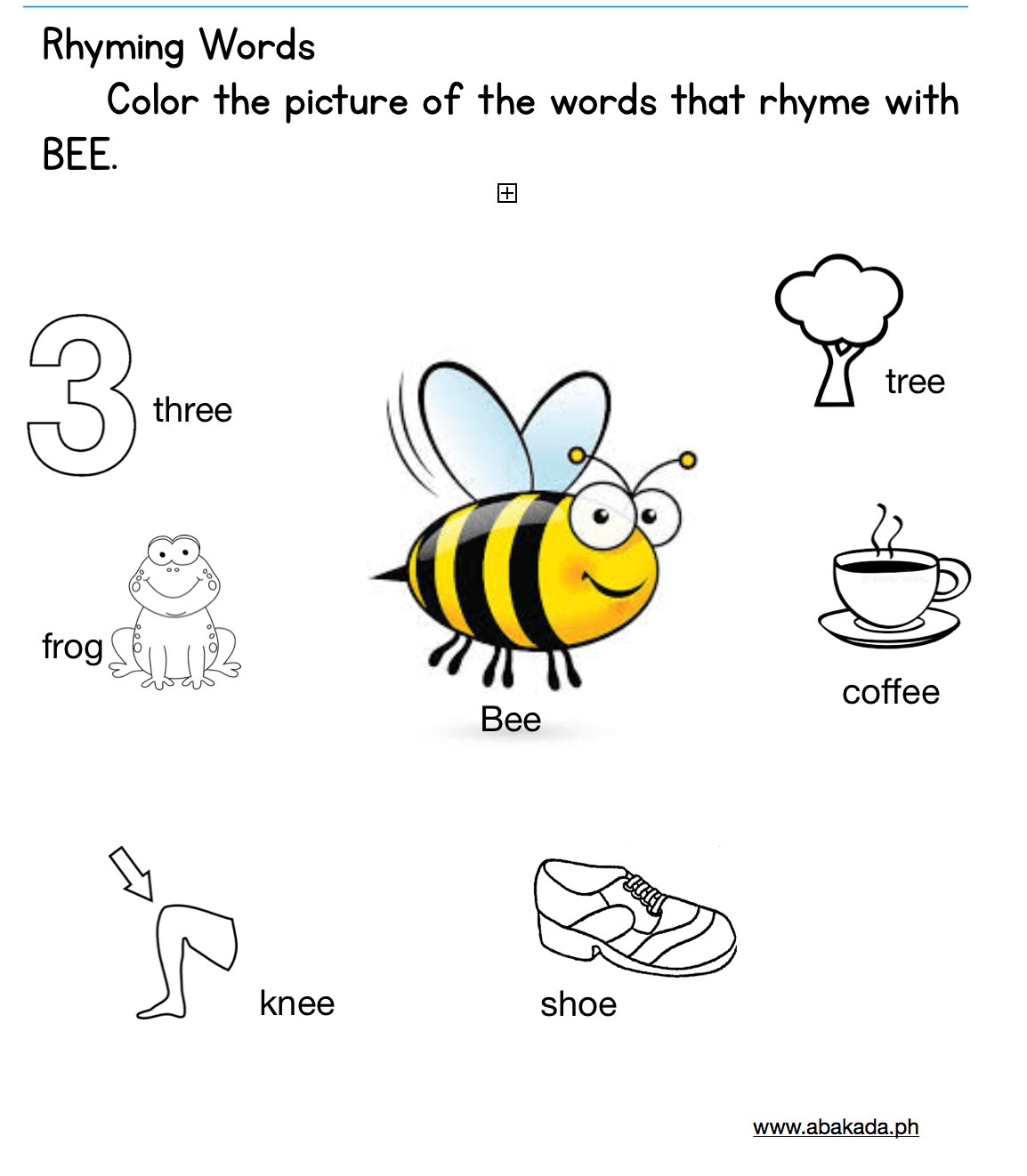 Rhyming Words Worksheets 1st Grade And Kindergarten