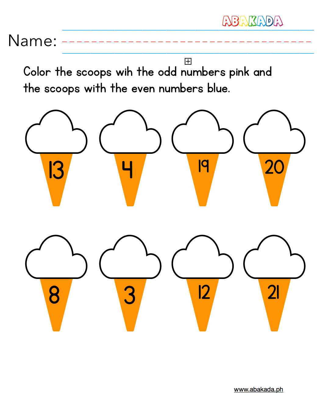 Odd And Even Numbers Practice Sheet For Kindergarten And