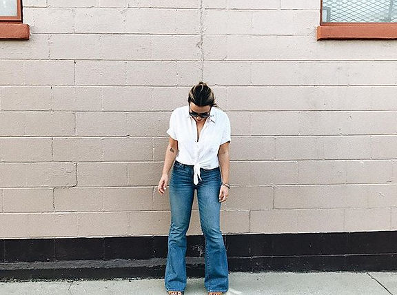 living and dying in _madewell flea market flares