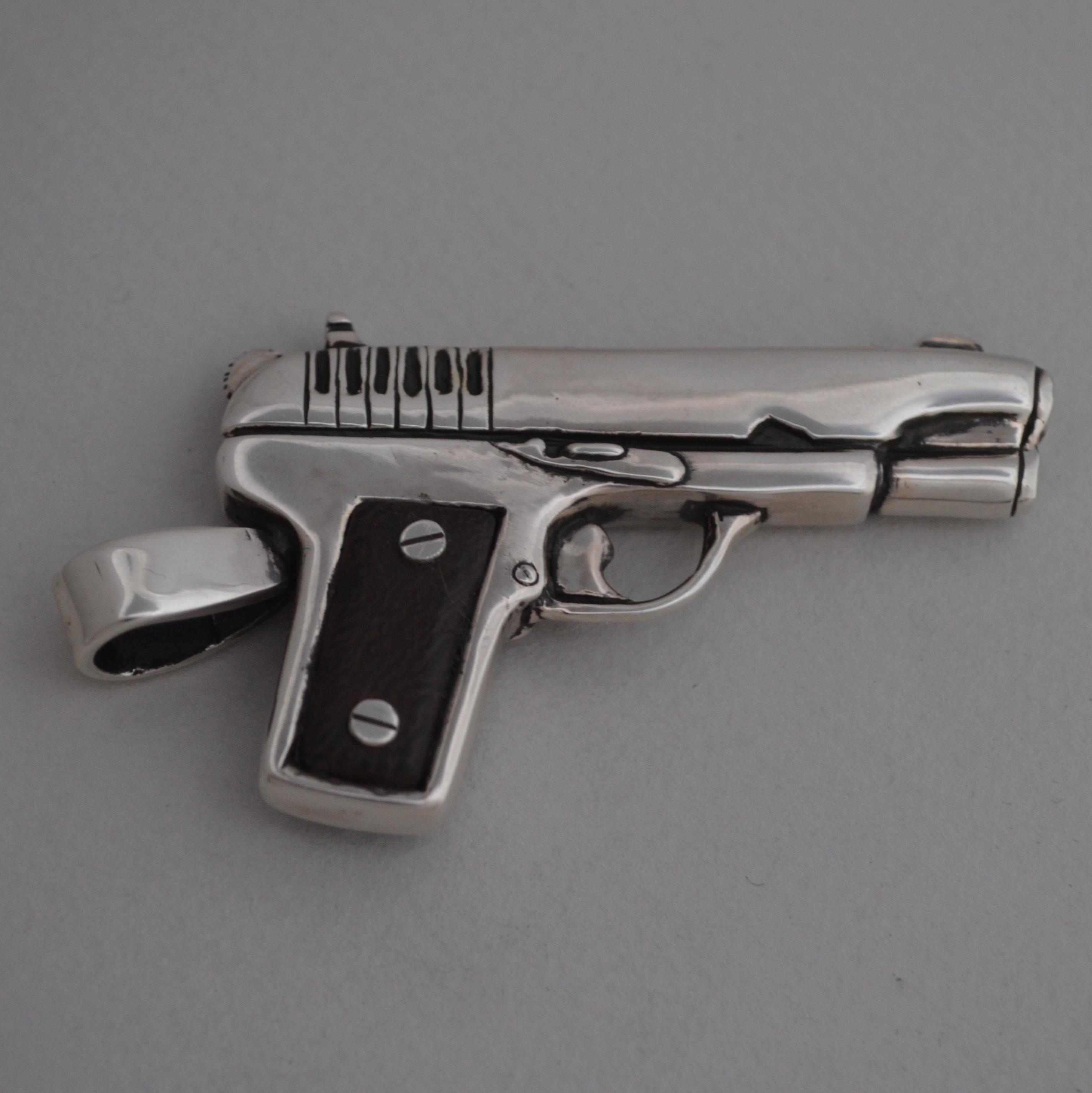 silver russian gun