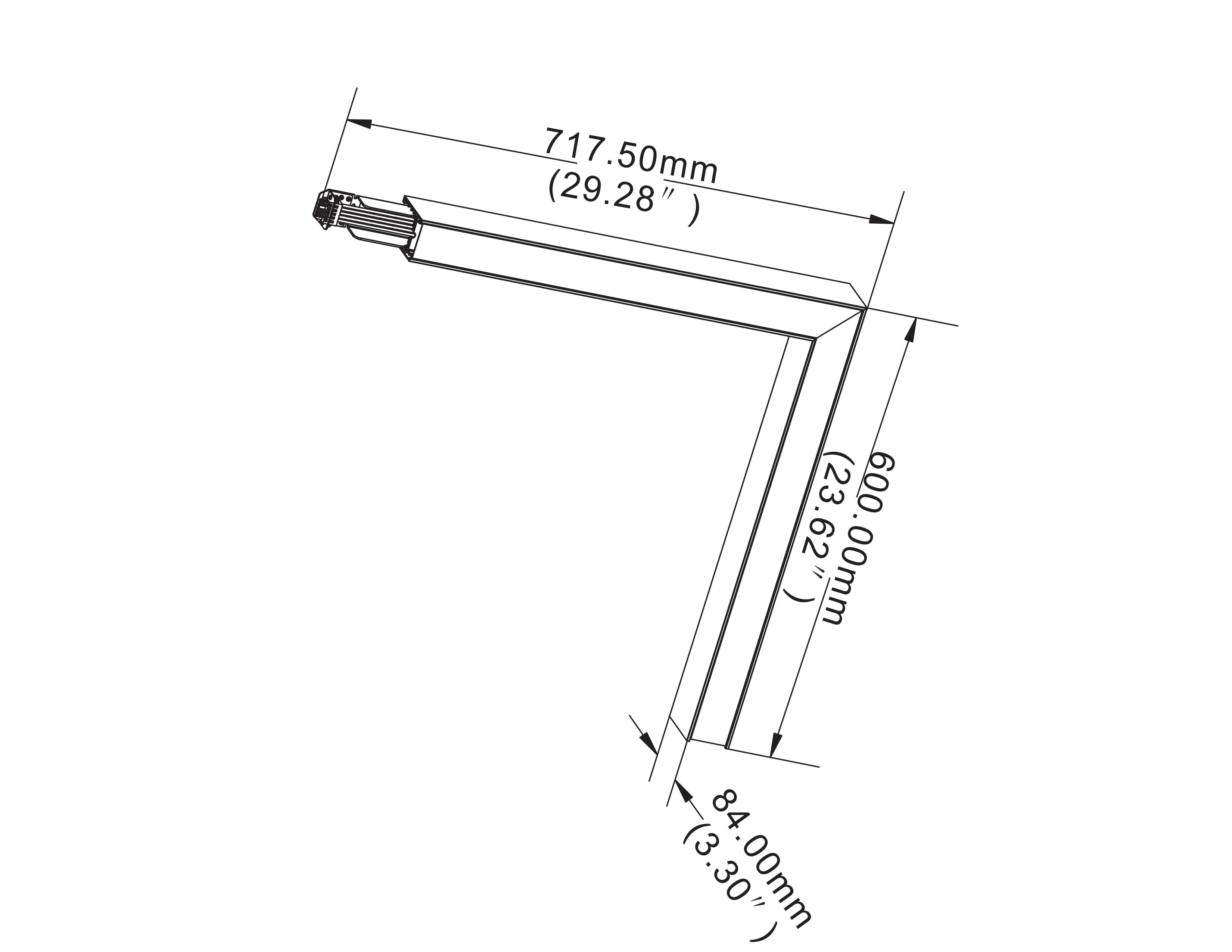 L L Shape 0 10v Dimming Led Linear Light Continuous