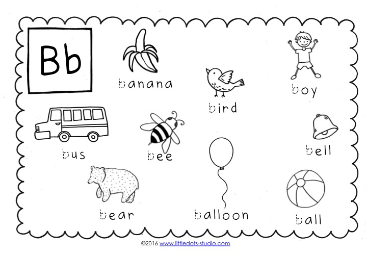 Preschool Letter B Activities And Worksheets