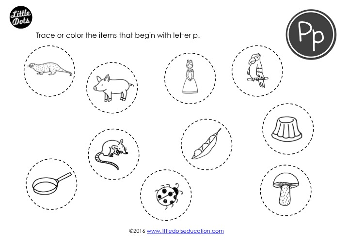 Preschool Letter P Activities And Worksheets