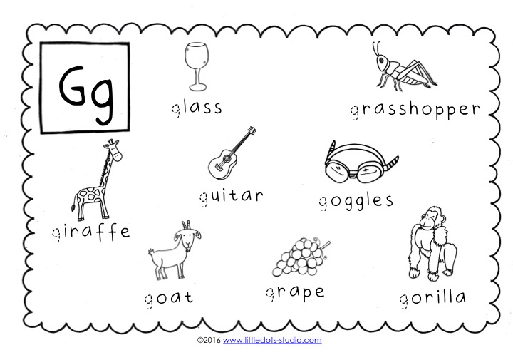 Preschool Letter G Activities And Worksheets