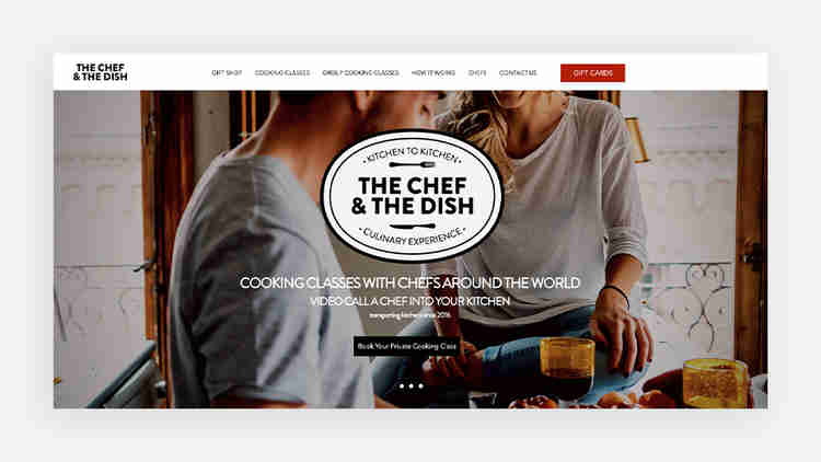 The Chef and the Dish website example