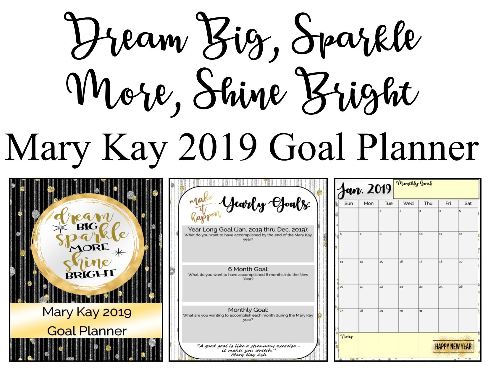 Freebie Editable Mary Kay Dream Big Goal