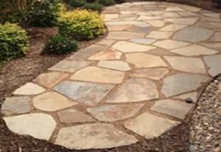 natural stone patios walkways