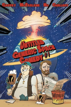Untitled Generic Space Comedy, issue #1, cover, self-published, Garvey/McFarlane, cover by Rob Guillory