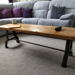 Industrial Coffee Table With Cast Iron Legs From Vintage Lathe Small Ridge Home