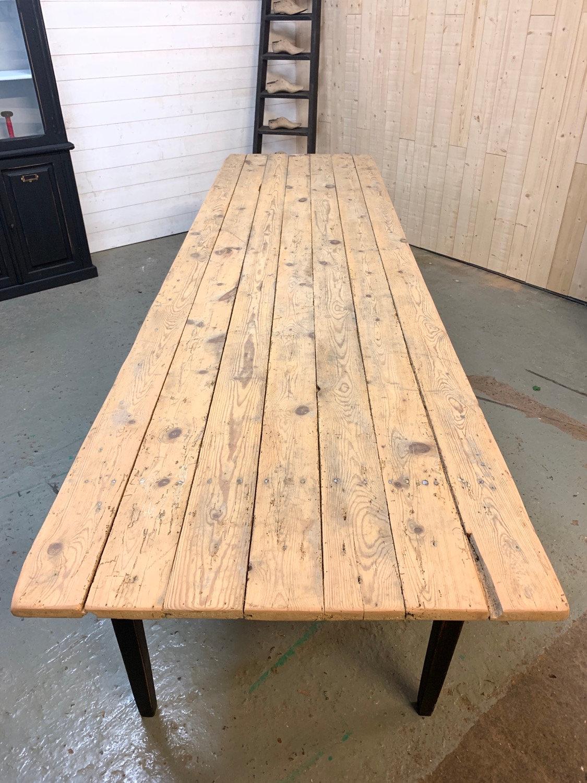 grande table de ferme en pin le dechineur
