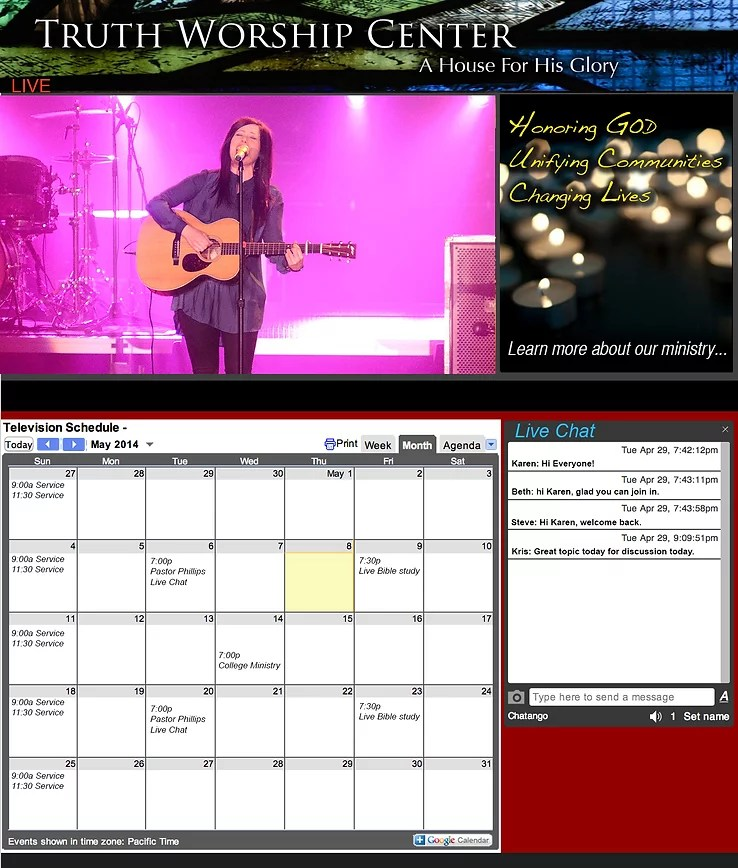 MyLiveDistrict  live streaming for worship  live streaming church     We can customize the sites for your business model and branding  Analytics  are also available so you can keep track of your audience