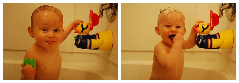 Toddler Portraits in Bathtub