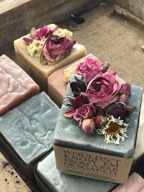 FLOWER FRENCH BLOCKS Do it like the French do with these vintage style French soap blocks inset  with beautiful dried garden flowers   all natural ingredients and last a  looong