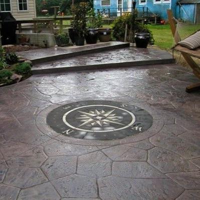 the paverart compass rose paver kit