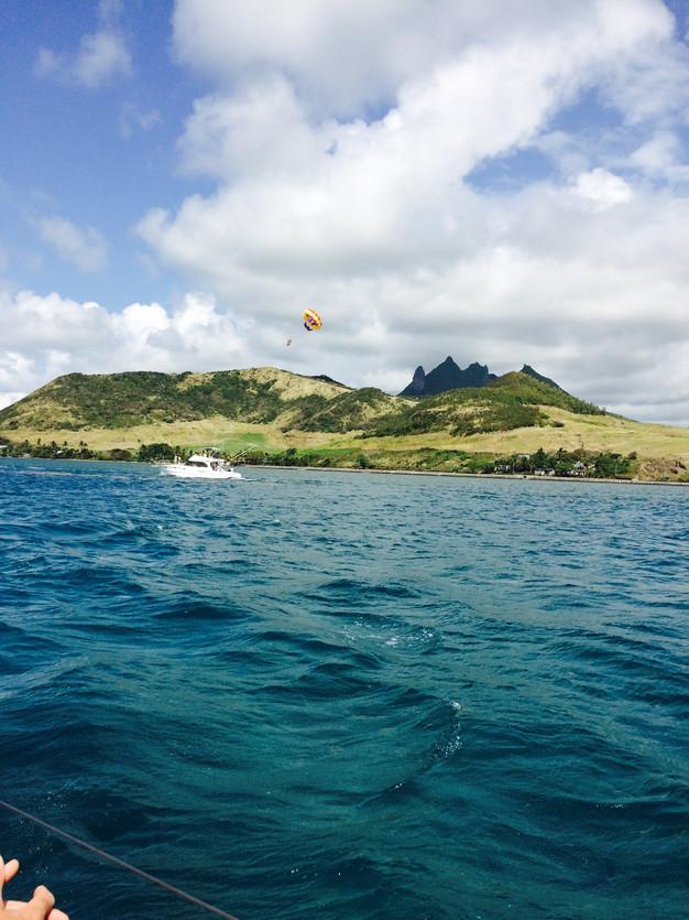 Mauritius catamaran cruise to Isle aux Cerfs